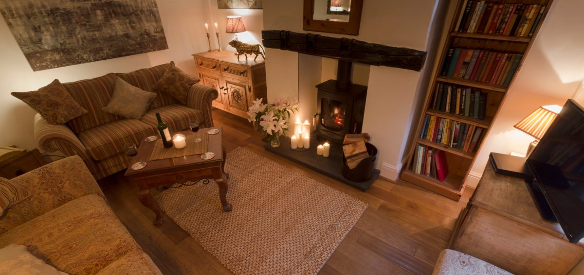 living room of the Blue Bell Self Catering Holiday Cottage